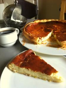 Pensée à ma mémé Juliette qui m'a transmise cette recette de Tarte au Fromage Blanc