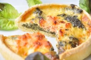 tarte au saumon et aux épinards frais Bio