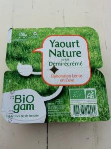 Biogam yaourt nature demi écrémé